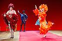 "London, UK. 29/06/2011.  les ballets C de la B Alain Platel and Frank Van Laecke present ""Gardenia"" at Sadler's Wells. In red: Vanessa Van Durme. Front: Rudy Suwyns. Photo credit should read Jane Hobson"