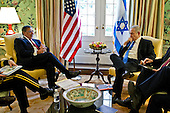 United States Secretary of Defense Leon E. Panetta meets with Prime Minister Benjamin Netanyahu of Israel at Blair House, Washington, D.C., Tuesday, March 5, 2012. .Mandatory Credit: Chad J. McNeeley / DoD via CNP