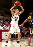 STANFORD, CA - JANUARY 21: Lauren St. Clair of the Stanford Cardinal during Stanford's 78-62 win over the California Golden Bears on January 21, 2000 at Maples Pavilion in Stanford, California.