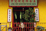 San Francisco China town with Buddhist temple California USA