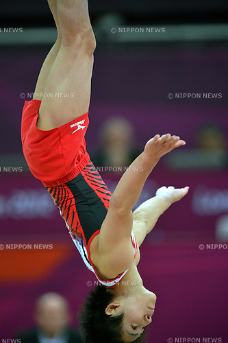 Ryohei Kato (JPN),.JULY 31, 2012 - Artistic Gymnastics : Men's Team at North Greenwich Arena during the London 2012 Olympic Games in London, UK. .(Photo by Jun Tsukida/AFLO SPORT)