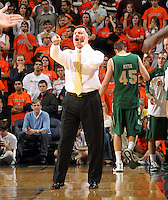 Nov. 12, 2010; Charlottesville, VA, USA;  William & Mary head coach Tony Shaver calls out to his players during the game against the Virginia Cavaliers at the John Paul Jones Arena. Virginia won 76-52.  Mandatory Credit: Andrew Shurtleff