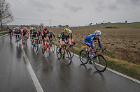 Zdenek Stybar (CZE/QuickStep Floors) leading a strong elite group containing all the race favorites<br /> <br /> 11th Strade Bianche 2017