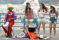 "Lenny Hoops plays, ""Its Party Time"" at the Santa Monica Pier on Thursday, June 16, 2011."