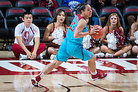 STANFORD, CA - December 4, 2016: Marta Sniezek at Maples Pavilion. Stanford defeated UC Davis, 68-42. The Cardinal wore turquoise uniforms to honor Native American Heritage Month