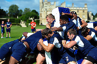 Tom Ellis of Bath Rugby in action at a maul. Bath Rugby pre-season training session on August 9, 2016 at Farleigh House in Bath, England. Photo by: Patrick Khachfe / Onside Images