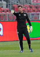20 April 2013: Houston Dynamo goalkeeper Tally Hall #1 in action during the warm-up in an MLS game between the Houston Dynamo and Toronto FC at BMO Field in Toronto, Ontario Canada..The game ended in a 1-1 draw...