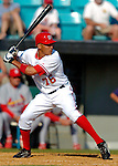 8 March 2006: Ian Desmond, infielder for the Washington Nationals, at bat during a Spring Training game against the St. Louis Cardinals. The Cardinals defeated the Nationals 7-4 in 10 innings at Space Coast Stadium, in Viera, Florida...Mandatory Photo Credit: Ed Wolfstein.