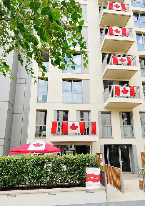 LONDON, ENGLAND – 08/26/2012:  Canada's Athlete Village at the London 2012 Paralympic Games. (Photo by Matthew Murnaghan/Canadian Paralympic Committee)