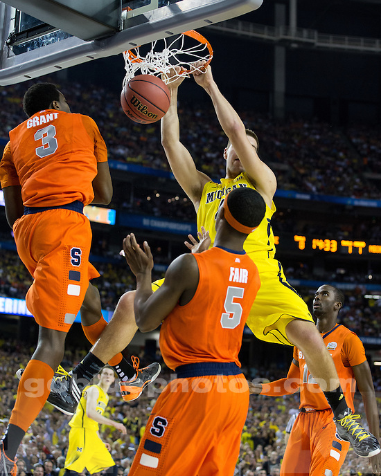 The University of Michigan men's basketball team beat Syracuse, 61-56, to advance to the National Championship game at the Georgia Dome in Atlanta, Ga., on April 6, 2013.