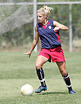 28 September 2006: Aly Wagner. The United States Women's National Team trained at the Home Depot Center in Carson, California.