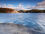 Autumn nature scenery of lake George at Killarney provincial park, Ontario, Canada.