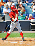 5 March 2011: Washington Nationals' outfielder Jeff Frazier in action during a Spring Training game against the New York Yankees at George M. Steinbrenner Field in Tampa, Florida. The Nationals defeated the Yankees 10-8 in Grapefruit League action. Mandatory Credit: Ed Wolfstein Photo