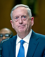United States Secretary of Defense James N. Mattis testifies at a US Senate Committee on Appropriations Subcommittee on Defense hearing entitled &quot;A Review of the Budget &amp; Readiness of the Department of Defense&quot; on Capitol Hill in Washington, DC on Wednesday, March 22, 2017.<br /> Credit: Ron Sachs / CNP /MediaPunch