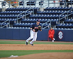 Ole Miss' Preston Overbey fields the ball for an out vs. North Carolina-Wilmington at Oxford-University Stadium in Oxford, Miss. on Friday, February 24, 2012. Ole Miss won 2-0.