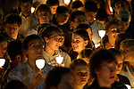 05/19/2012 - Medford/Somerville, Mass. - The candlelight ceremony inducting the graduating class of 2012 into the Tufts University Alumni Association on Saturday, May 19, 2012. (Alonso Nichols/Tufts University)
