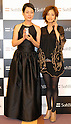 Actresses Aya Ueto, 22, right, and Kanako Higuchi, 50, left, pose with SoftBank?s premium mobile handset SoftBank 823SH Tiffany. Ueto and Higuchi appear in Softbank TV commercials as daughter and mother. The Tiffany model features 537 diamonds?18.34 carats in total. Ten handsets will be sold for 11.298 million yen each. The handset will be displayed at Softbank?s shop in Omotesando from Nov 1 to 9 and Tiffany?s shop in Marunouchi from Nov 1 to 16.