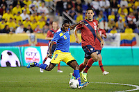 Edison Mendez (8) of Ecuador. The men's national team of the United States (USA) was defeated by Ecuador (ECU) 1-0 during an international friendly at Red Bull Arena in Harrison, NJ, on October 11, 2011.
