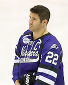 Bryan Haczyk (Niagara - 22) - The visiting Niagara University Purple Eagles defeated the Northeastern University Huskies 4-1 on Friday, November 5, 2010, at Matthews Arena in Boston, Massachusetts.