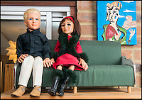 BNPS.co.uk (01202 558833)<br /> Pic: TomWren/BNPS<br /> <br /> Alan Tracy and Tin-Tin Kyrano.<br /> <br /> A Thunderbirds fanatic who always dreamt of owning an original Parker puppet now earns a living making them for fellow fans.<br /> <br /> Duncan Willis, 59, made his first puppet 15 years ago and his hobby has grown into a business where he creates puppets of the show's best-loved characters including Parker, Lady Penelope and Jeff Tracy. <br /> <br /> Mr Willis makes and sells about 20 Thunderbirds puppets a year at his home in Whiteley, Hampshire, together with elaborate props for them because he doesn't want them to be stood 'with a rod up their backside'. <br /> <br /> The puppets, which measure between 19 and 23in, take him four to six weeks to craft and cost in the region of &pound;900.