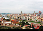Arno River Ponte Vecchio View from Piazzale Michelangelo Florence
