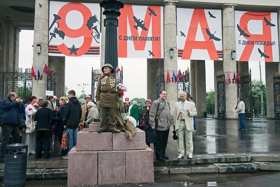 Moscow, Russia, 09/05/2012..Russian World War Two veterans and well-wishers gather in Gorky Park during the countrys annual Victory Day celebrations.