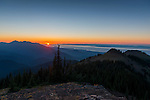 Sunset seen from Blue Mountain, Olympic National Park