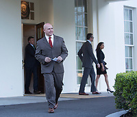 United States National Security Advisor, US Army Lieutenant General H. R. McMaster, walks to the microphones to make a statement at the White House in Washington, DC refuting a Washington Post article alleging that US President Donald J. Trump shared secret information with the Russian Foreign Minister and Ambassador during their recent meeting, May 15, 2017. <br /> Credit: Chris Kleponis / Pool via CNP /MediaPunch