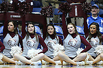 22 March 2015: MSU cheerleaders. The Duke University Blue Devils hosted the Mississippi State University Bulldogs at Cameron Indoor Stadium in Durham, North Carolina in a 2014-15 NCAA Division I Women's Basketball Tournament second round game. Duke won the game 64-56.