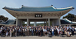 Korean War veterans from countries who fought in the Korean War pose for a photo after events to commemorate the 60th anniversary of the start of the Korean War at the National Cemetery in Seoul, South Korea on 23 June, 2010..