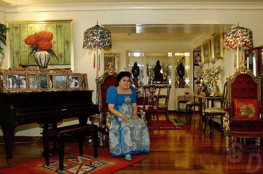 Imelda Marcos, in her appartment in Makati, Manila