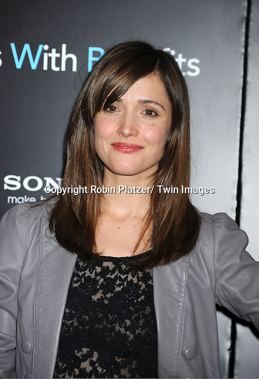 """Rose Byrne attending the New York Premiere of """"Freinds With Benefits"""" on July 18, 2011 at The Ziegfeld Theatre in New York City. The movie stars Justin Timberlake, Mila Kunis, Emma Stone, Patricia Clarkson, Jenna Elfman and Bryan Greenberg."""