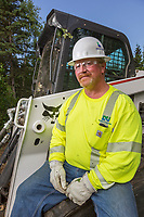 Doyon Utilities employee working on Fort Wainright, Fairbanks, Alaska
