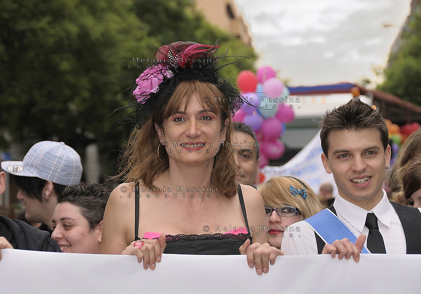 Palermo, gay pride second edition: Vladimir Luxuria.<br /> Palermo, seconda edizione del gay pride, anghe questa volta con la partecipazione di Vladimir Luxuria.