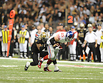 New Orleans Saints Roman Harper (41) vs. New York Giants Jake Ballard (85) at the Superdome in New Orleans, La. on Monday, November 28, 2011. New Orleans won 49-24.