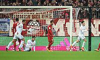 FUSSBALL  1. BUNDESLIGA  SAISON 2015/2016  24. SPIELTAG FC Bayern Muenchen - 1. FSV Mainz 05       02.03.2016 Jairo Samperio (re, 1. FSV Mainz 05) erzielt das Tor zum 0:1 und dreht jubelnd ab