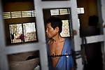 Only 1 percent of the Cambodian government's health budget goes to mental health and only 0.1 percent of the population have access mental health services every year. Mentally ill Cambodians live at this government-run mental health facility of the Ministry of Social Affairs, outside of Phnom Penh, Cambodia. Any basic psychiatric services and facilities, along with the medical professionals, that were established in Cambodia prior to 1975 were entirely destroyed, or killed, by the Khmer Rouge regime.