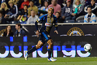 Fabio Alves (Fabinho) (33) of the Philadelphia Union. The Houston Dynamo defeated the Philadelphia Union 1-0 during a Major League Soccer (MLS) match at PPL Park in Chester, PA, on September 14, 2013.