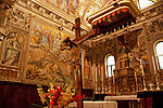 Paintings by Giovanni Mauro della Rovere, called Fiammenghino, in the 17th century in the Sant'Eusebio e Vittore church in Peglio, a town above Gravedona on Lake Como, Italy