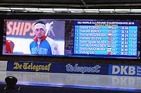 SCHAATSEN: BERLIJN: Sportforum Berlin, 05-03-2016, WK Allround, Podium Men 500m, Håvard Bøkko (NOR), Denis Yuskov (RUS), Konrad Niedzwiedzki (POL), ©foto Martin de Jong