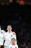 Sarah Hunter of England sings the national anthem prior to the match. Old Mutual Wealth Series International match between England Women and Canada Women on November 26, 2016 at Twickenham Stadium in London, England. Photo by: Patrick Khachfe / Onside Images