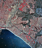 historical infrared aerial photograph of Capistrano Beach, California, 2002