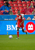 Toronto FC midfielder Tony Tchani #22 in action during an MLS game between the Chicago Fire and the Toronto FC at BMO Field in Toronto on May 14, 2011..The game ended in a 2-2 draw.