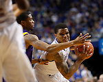 UK guard Julius Mays tries to keep the ball in a game full of scrambles and scrappy play during the second half of the men's basketball game vs. LSU at Rupp Arena, in Lexington, Ky., on Saturday, January 26, 2013. Photo by Genevieve Adams  | Staff.