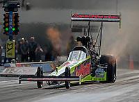 Sep 16, 2016; Concord, NC, USA; NHRA top fuel driver J.R. Todd during qualifying for the Carolina Nationals at zMax Dragway. Mandatory Credit: Mark J. Rebilas-USA TODAY Sports