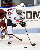 Drew Daniels (Northeastern - 24) - The Northeastern University Huskies defeated the visiting Boston College Eagles 2-1 on Saturday, February 19, 2011, at Matthews Arena in Boston, Massachusetts.