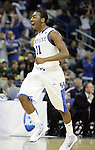Freshman guard John Wall celebrates on his way to the bench for a time out during the first half of UK's second round  win over Wake Forest in the NCAA tournament at New Orleans Arena on Saturday, March 20, 2010. Photo by Britney McIntosh | Staff