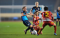 (L to R) Katy Chapman (Arsenal),  Homare Sawa (Leonessa), NOVEMBER 30, 2011 - Football / Soccer : TOYOTA Vitz Cup during Frendiy Women's Football match INAC Kobe Leonessa 1-1 Arsenal Ladies FC at National Stadium in Tokyo, Japan. (Photo by Jun Tsukida/AFLO SPORT) [0003]