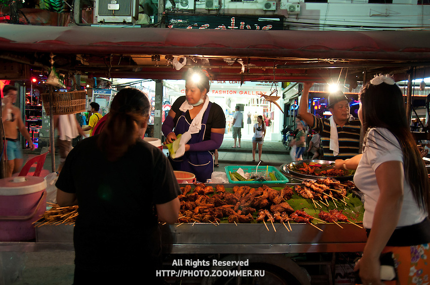 Thai hawker food on Bangla Road, Phuket, Thailand