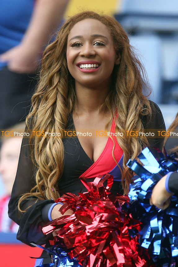 One of the Crystalettes dance troupe - Crystal Palace vs Swansea City at the Selhurst Park Stadium - 22/09/13 - MANDATORY CREDIT: Dave Simpson/TGSPHOTO - Self billing applies where appropriate - 0845 094 6026 - contact@tgsphoto.co.uk - NO UNPAID USE